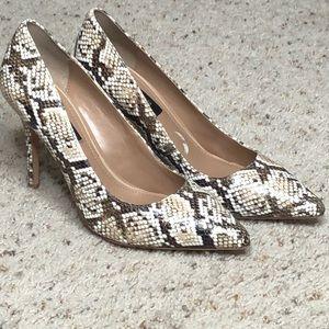 White House black market snakeskin heels
